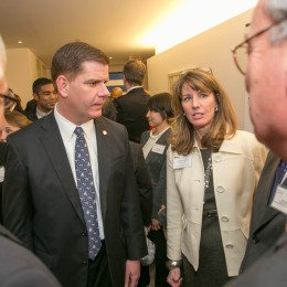 Boston Mayor Marty Walsh & GABC Executive Director Marian LeMay
