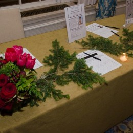 The silent auction table