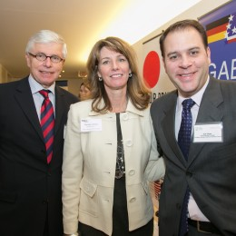 German Consul General Helmut Landes, GABC Executive Director Marian LeMay, and GABC President Erik Dilger