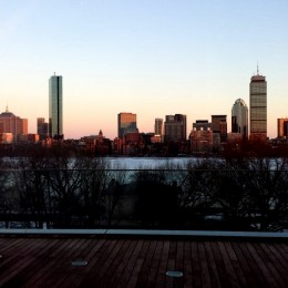 View from MIT Media Lab across the Charles River. Photo credit B. Petzold