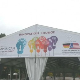 Early morning set-up at the Innovation Lounge