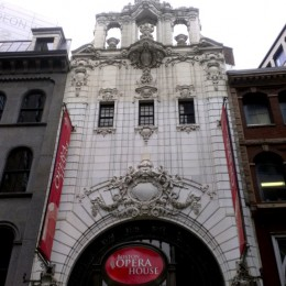 The facade of the Boston Opera House