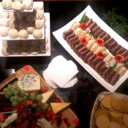 Snacks for our group before the performance