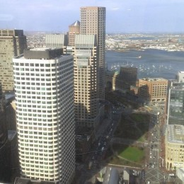 View from Mintz Levin's 38th floor